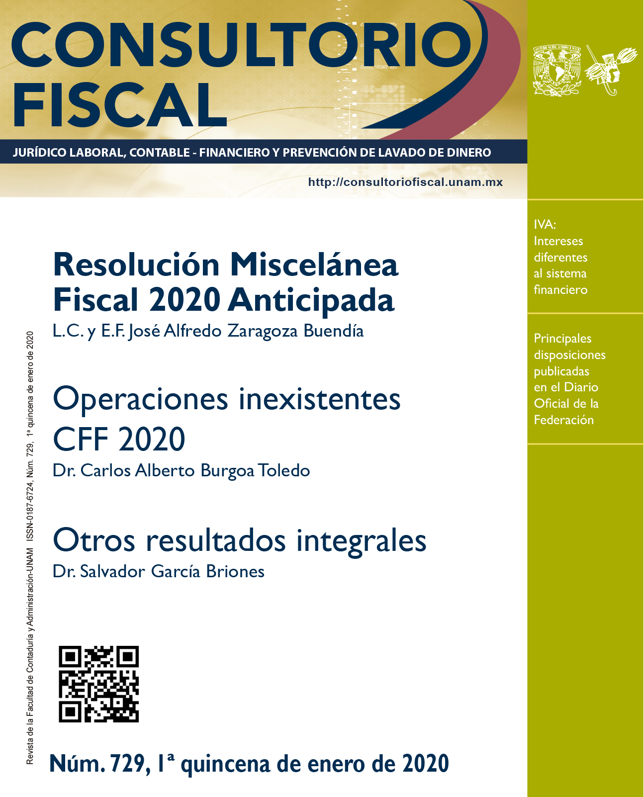 Resolución Miscelánea Fiscal 2020 Anticipada